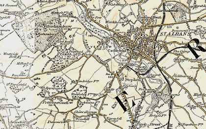 Old map of Abbey Sta in 1898
