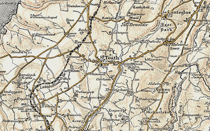 Old map of St Teath in 1900