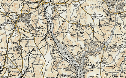 Old map of Lantyan Wood in 1900