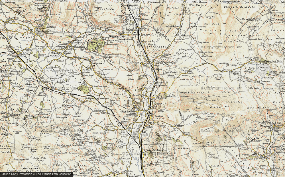 Old Map of Stackhouse, 1903-1904 in 1903-1904