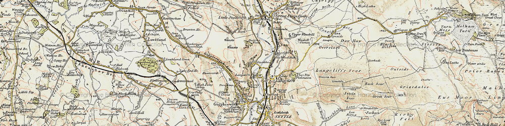Old map of Stackhouse in 1903-1904