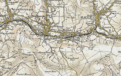 Old map of Stacksteads in 1903