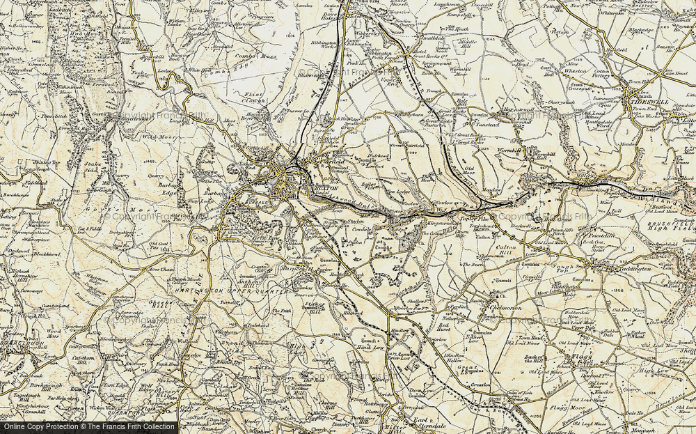 Old Map of Historic Map covering Ashwood Dale in 1902-1903