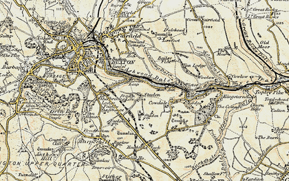 Old map of Ashwood Dale in 1902-1903