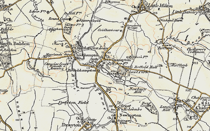 Old map of Stadhampton in 1897-1899