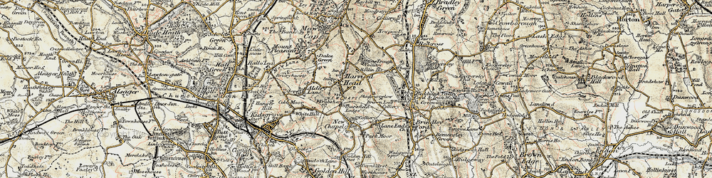 Old map of Thursfield Lodge in 1902-1903