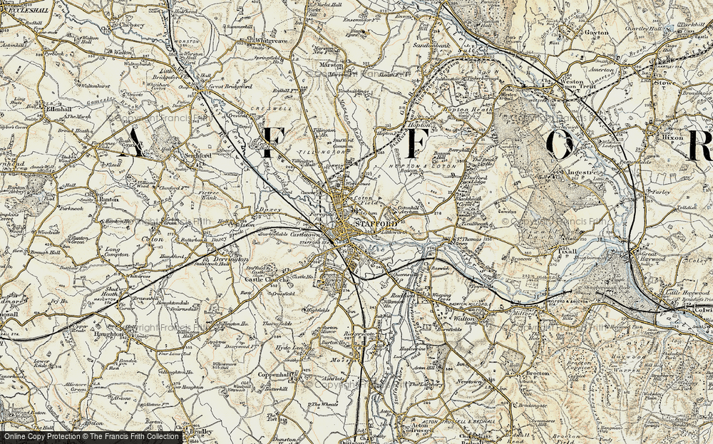 Old Map of Stafford, 1902 in 1902