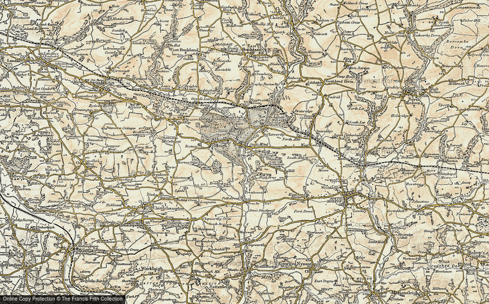 Old Map of Historic Map covering Woodhouse in 1900