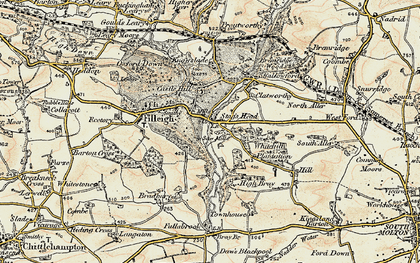 Old map of Woodhouse in 1900