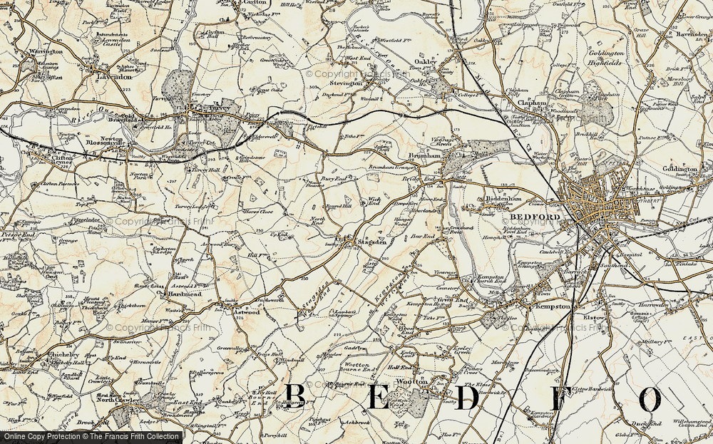Old Map of Historic Map covering Astey Wood in 1898-1901
