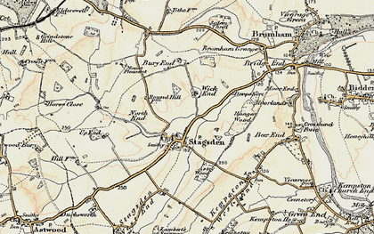 Old map of Astey Wood in 1898-1901