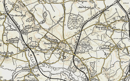 Old map of Staincross in 1903