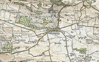 Old map of West Side Ho in 1903-1904