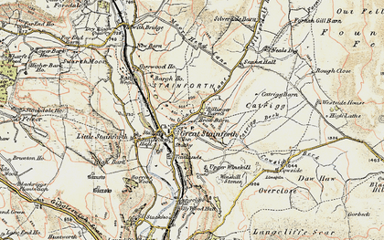 Old map of Stainforth in 1903-1904