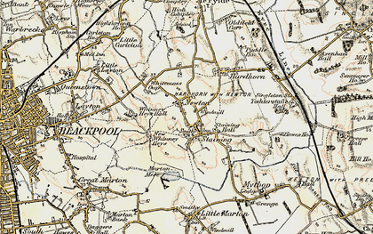Old map of Staining in 1903-1904