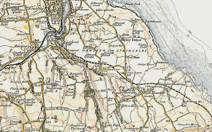 Old map of Asp Ho in 1903-1904
