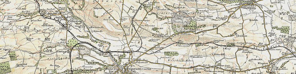 Old map of Westwick Moor in 1903-1904