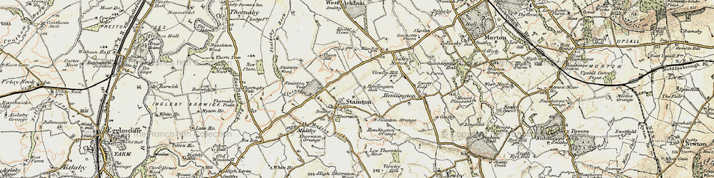 Old map of Stainton in 1903-1904