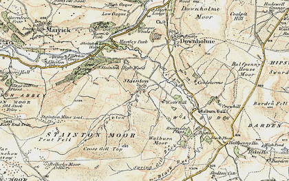 Old map of Whit Fell in 1904