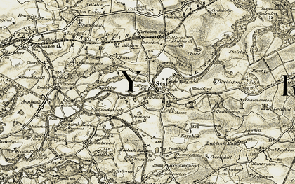 Old map of Wrighthill in 1904-1906