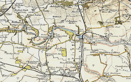 Old map of Stakeford in 1901-1903