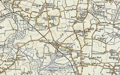 Old map of Stalham in 1901-1902