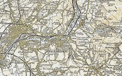 Old map of Stalybridge in 1903