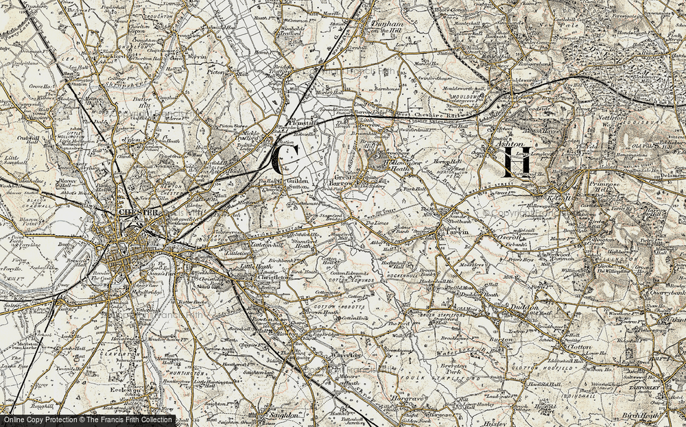 Old Map of Historic Map covering Limes, The in 1902-1903