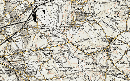 Old map of Limes, The in 1902-1903