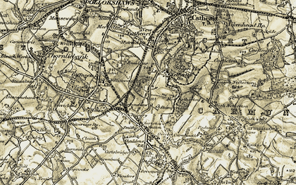 Old map of Stamperland in 1904-1905