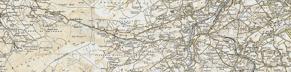 Old map of Withins Flat in 1903-1904