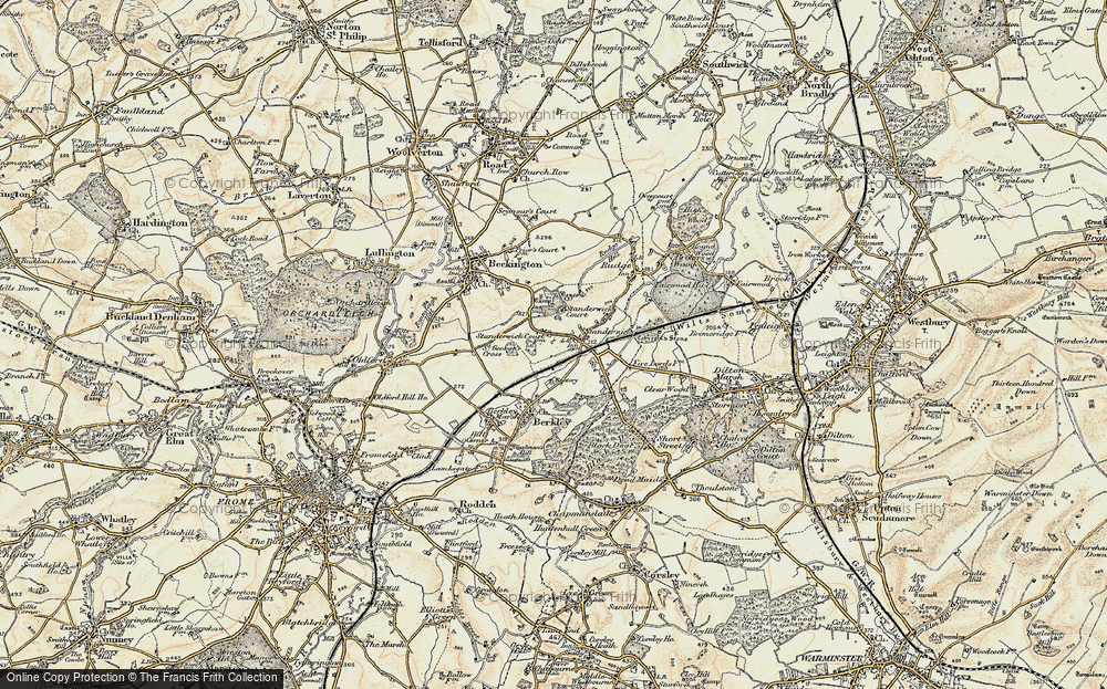 Old Map of Standerwick, 1898-1899 in 1898-1899