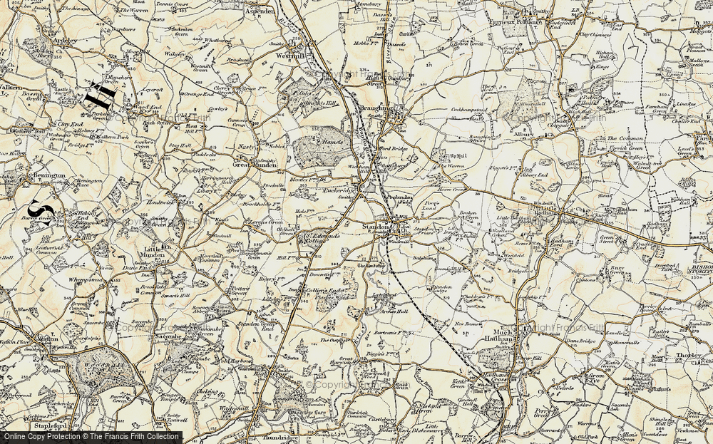 Old Map of Standon, 1898-1899 in 1898-1899