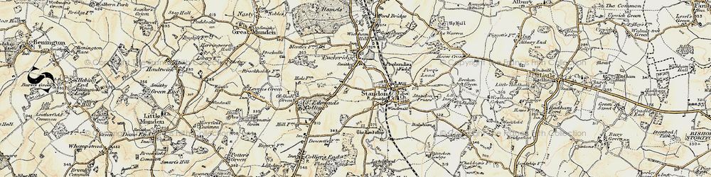 Old map of Standon in 1898-1899