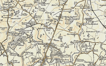 Old map of Standon Green End in 1898-1899
