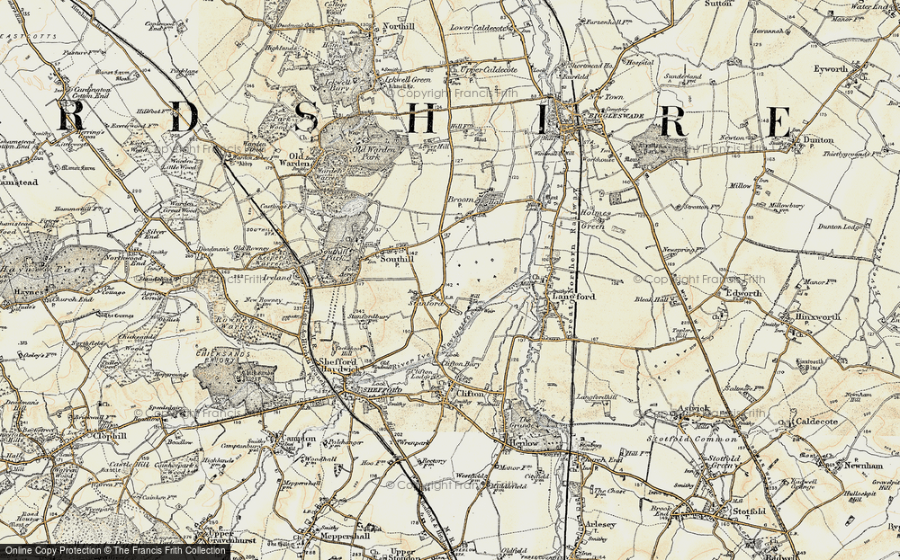 Old Map of Stanford, 1898-1901 in 1898-1901