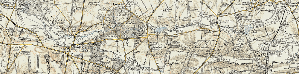 Old map of Widdowshill Plantn in 1901-1902