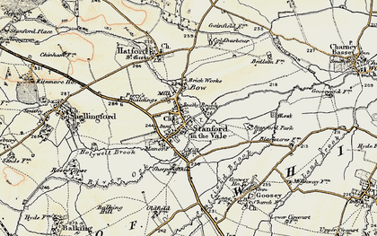 Old map of Stanford in the Vale in 1897-1899