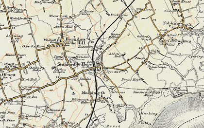 Old map of Stanford-le-Hope in 1897-1898