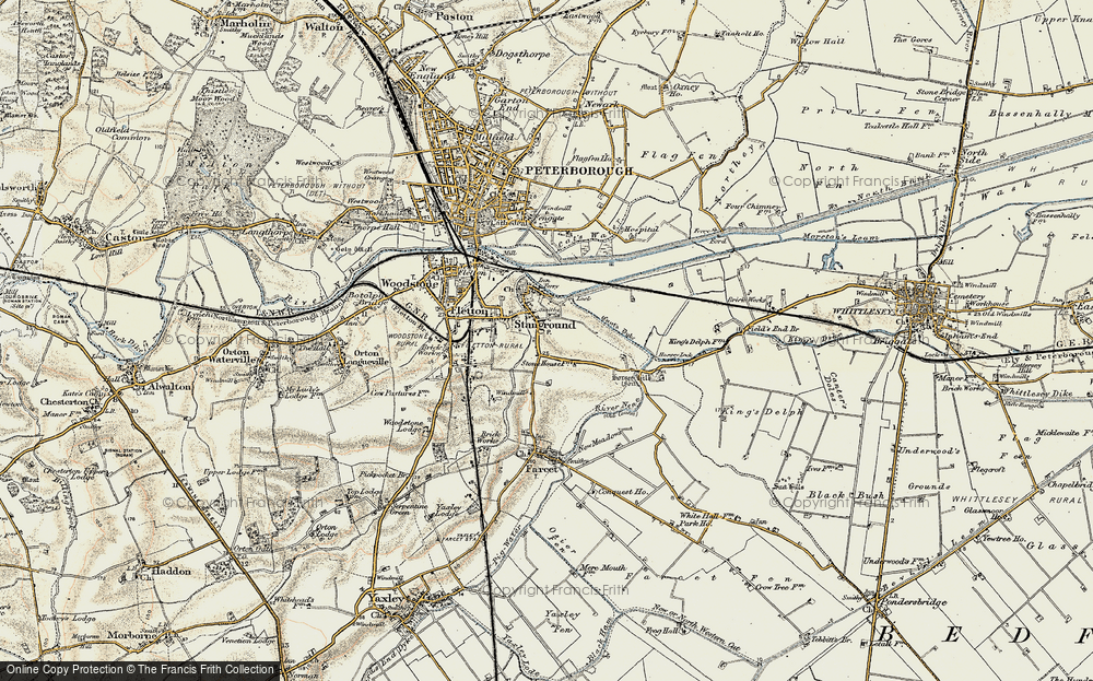 Old Map of Stanground, 1901-1902 in 1901-1902