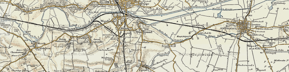 Old map of Stanground in 1901-1902