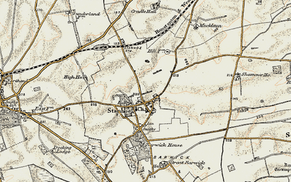 Old map of Stanhoe in 1901-1902