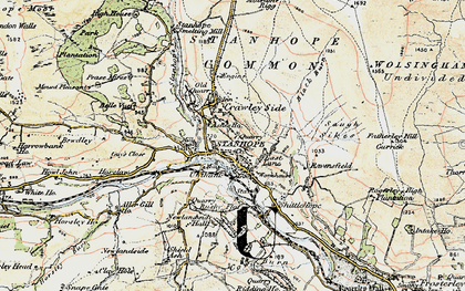 Old map of Stanhope in 1901-1904