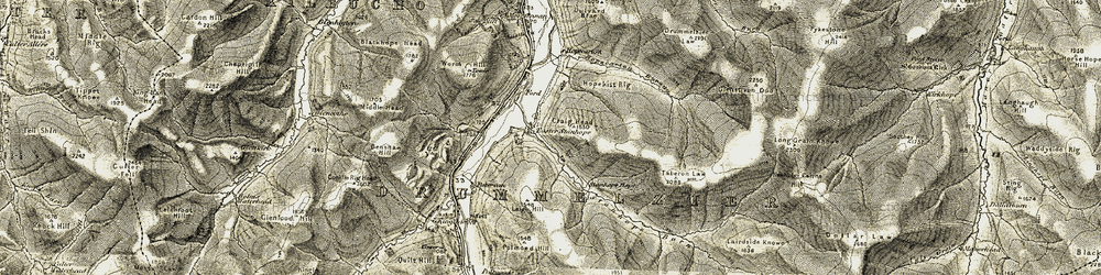 Old map of Worm Hill in 1904