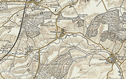 Old map of Stanion in 1901-1902