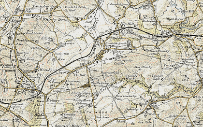 Old map of Stanley in 1901-1904