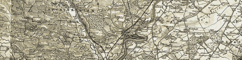 Old map of West Tofts in 1907-1908