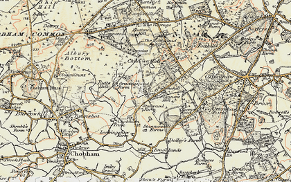 Old map of Larkenshaw in 1897-1909