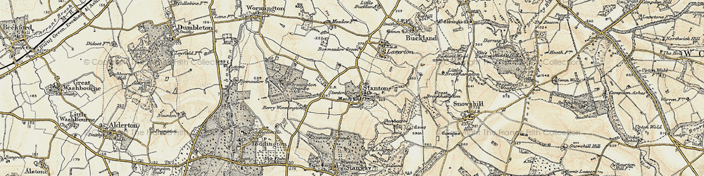 Old map of Stanton in 1899-1901