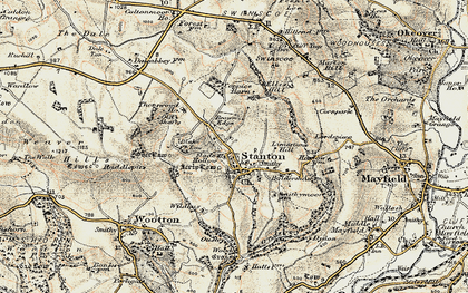 Old map of Limestone Hill in 1902